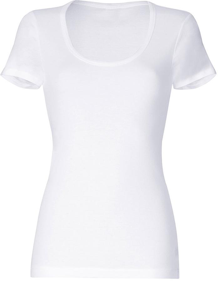 Splendid White Short Sleeve Lightweight Scoop Neck T-Shirt