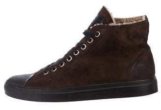 Maison Margiela Shearling High-Top Sneakers