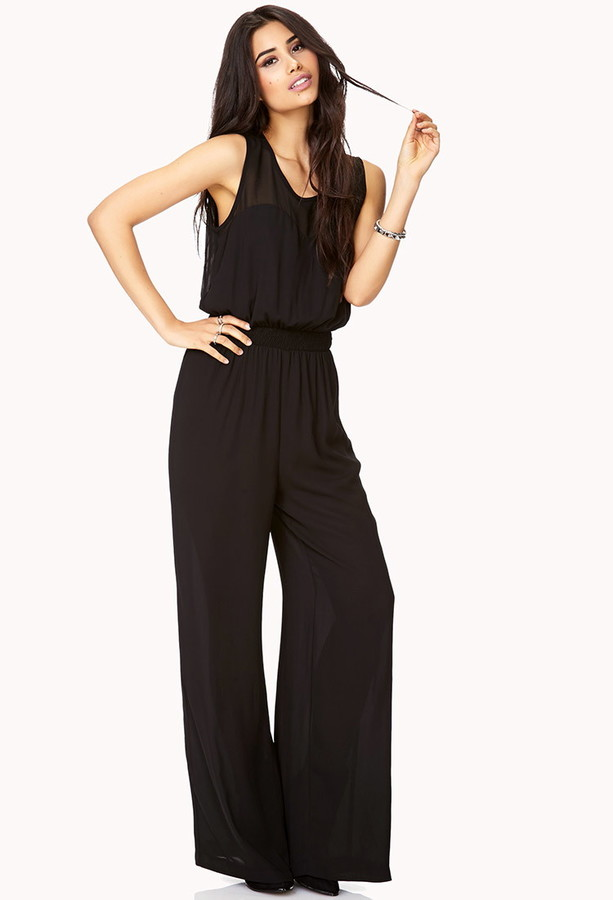 Forever 21 Sleek Georgette Jumpsuit