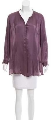 Calypso Long Sleeve Silk Top