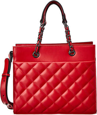 Jagger Kc Jules Front Pocket Quilted Leather Tote