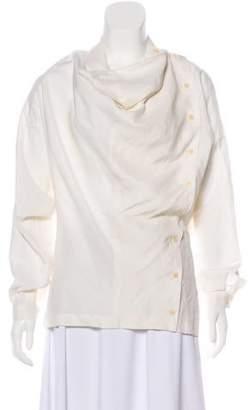 Creatures of Comfort Casual Linen & Silk Blend Top