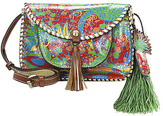 Patricia Nash Tropicana Summer Collection Beaumont Tasseled Saddle Bag $189 thestylecure.com