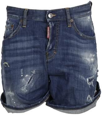 DSQUARED2 Wide Leg Denim Shorts