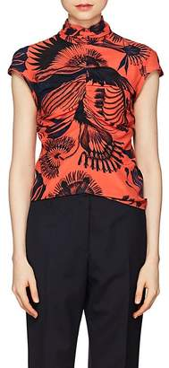Dries Van Noten Women's Floral Silk Top