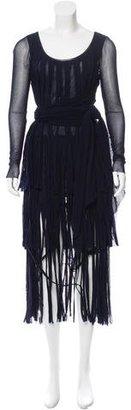 Jean Paul Gaultier Semi-Sheer Fringe Dress $250 thestylecure.com