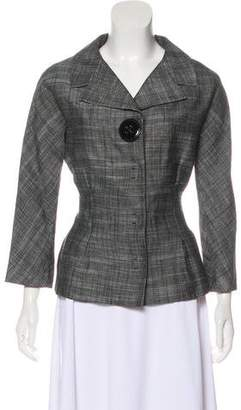 Giambattista Valli Fitted Notch-Lapel Blazer