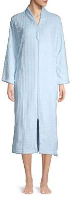 Miss Elaine Floral Cable Zip Robe