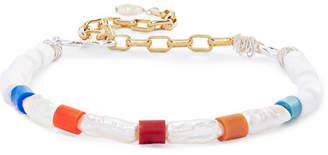 WALD Berlin - Genie In A Bottle Gold-tone, Silver, Pearl And Beaded Bracelet - White