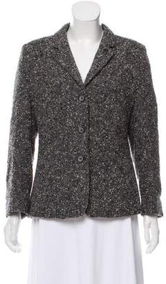 Rena Lange Tweed Notch-Lapel Blazer