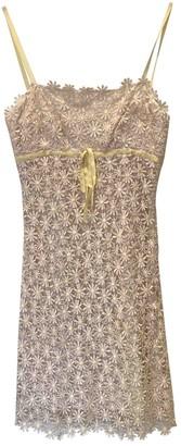 Tocca Yellow Silk Dress for Women