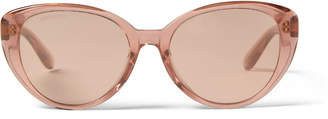 Jimmy Choo ELSIE/F/S 54 Pink Glitter Sunglasses with Mirror Lenses and Star Embellishment