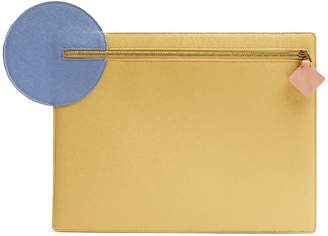 Roksanda Alpin pebbled-leather clutch