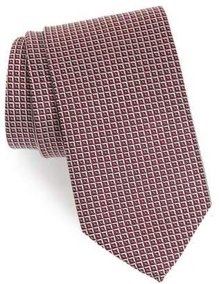 Eton Geometric Grid Silk Tie
