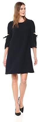 Ellen Tracy Women's A Line Dress Cut Out Sleeve
