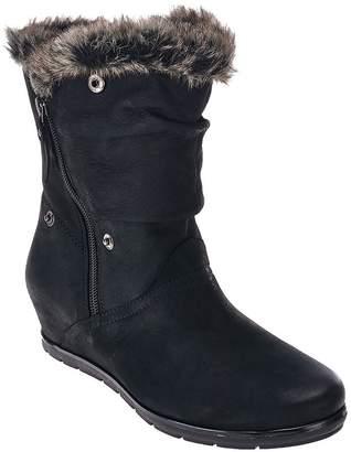 Earth Earthies Leather Wedge Boots w/ Faux Fur Trim - Gelderland