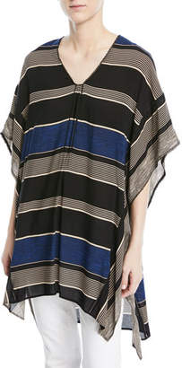 Halston V-Neck Long Kaftan Top
