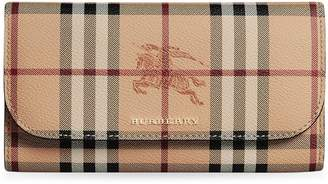 Burberry Haymarket Check slim continental wallet