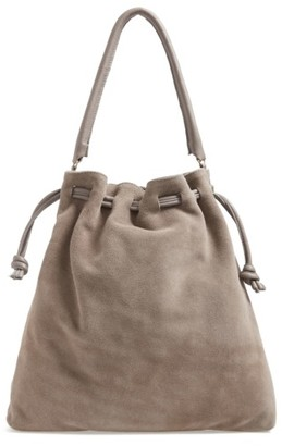 Clare V. Henri Drawstring Shoulder Bag - Grey $395 thestylecure.com