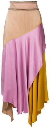 Peter Pilotto colour-block flared midi skirt