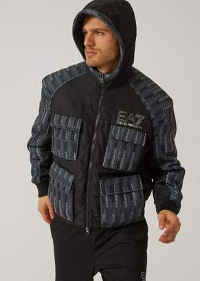 Emporio Armani Ea7 Multi-Pocket Puffer Jacket With Hood