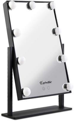 Dwelllifestyle Black Embellir Standing LED Make-Up Mirror