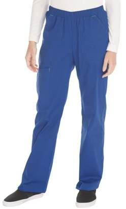 Scrubstar Women's Core Essentials Stretch Poplin Color-Pop Pull-On Scrub Pant