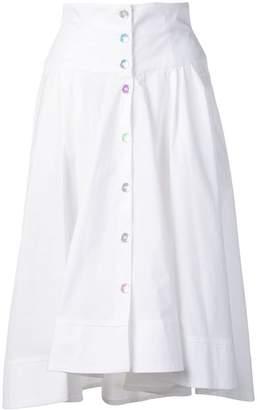 Pinko button-through midi skirt