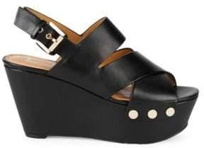 Marc Fisher Bianka Leather Platform Wedge Sandals