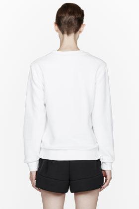 Alexander Wang White Ottoman Double Knit Sweatshirt