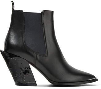 Acne Studios Jemina Leather Ankle Boots - Black