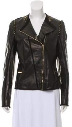 Fendi Zip-Up Leather Jacket w/ Tags Black Zip-Up Leather Jacket w/ Tags