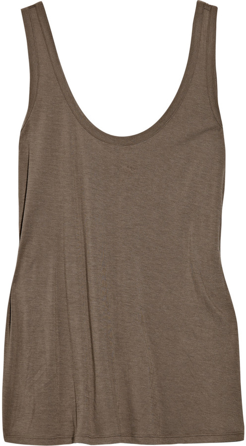 The Row Thomaston scoop-back jersey tank