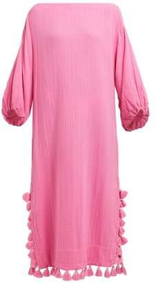 Rhode Resort Delilah Pom Pom Cotton Dress - Womens - Pink