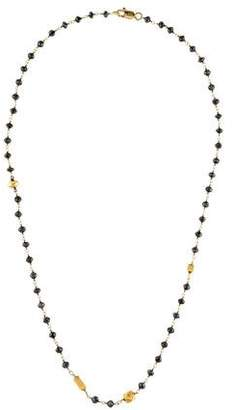 Black Diamond 18K Station Necklace