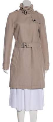 Burberry Knee-Length Wool Coat