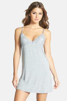 PJ Salvage 'Rayon Basics' Lace Trim Knit Chemise