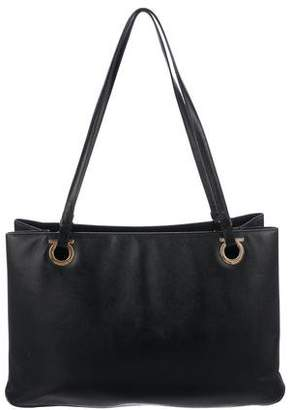 Salvatore Ferragamo Gancio Smooth Leather Tote