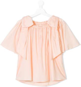 Chloé Kids bow shouldered blouse