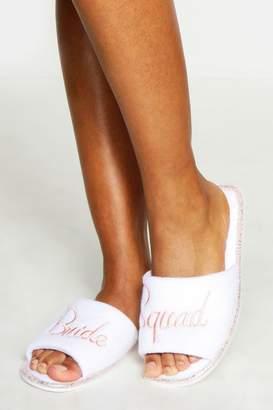 boohoo Bride Squad Slippers