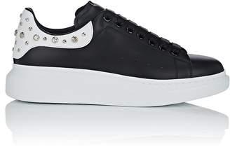 Alexander McQueen Men's Oversized-Sole Studded Leather Sneakers