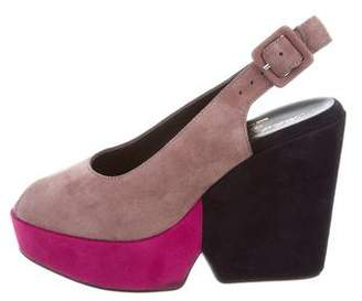 Robert Clergerie Colorblock Platform Wedges w/ Tags