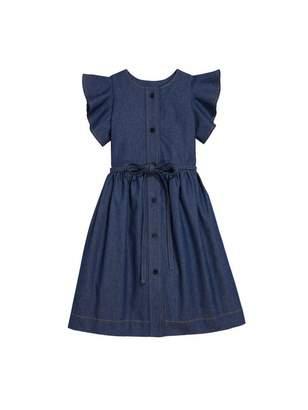Oscar de la Renta Ruffled Denim Dress