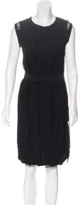 Lanvin Sleeveless Embellished Dress