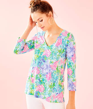 Lilly Pulitzer Etta 3/4 Sleeve Top