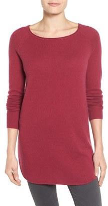 Women's Halogen Shirttail Wool & Cashmere Boatneck Tunic $129 thestylecure.com