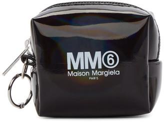 MM6 MAISON MARGIELA (エムエム6 メゾン マルジェラ) - Mm6 Maison Margiela MM6 Maison Margiela ブラック ホログラフィック スモール スクエア コイン ポーチ