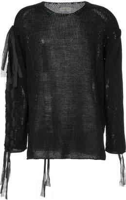 Yohji Yamamoto loose fit distressed sweater