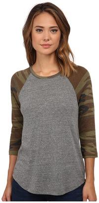 Alternative - Eco Jersey Baseball T-Shirt Women's T Shirt $44 thestylecure.com