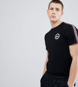 Hype T-Shirt With Checker Side Stripe Exclusive to ASOS